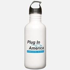 Plug In America Logo Water Bottle