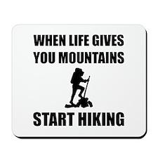 Mountains Start Hiking Mousepad