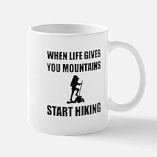 Mountains Start Hiking Mugs