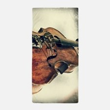 classic vintage violin Beach Towel
