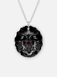 Black Metal Baphomet Pentagr Necklace