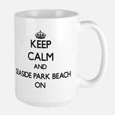 Keep calm and Seaside Park Beach Connecticut Mugs