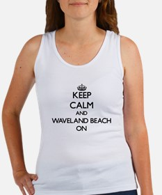 Keep calm and Waveland Beach Mississippi Tank Top