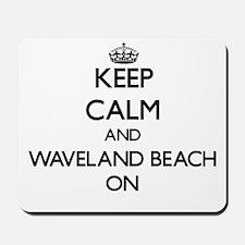 Keep calm and Waveland Beach Mississippi Mousepad