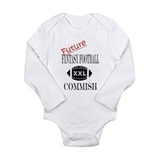 Cute Fantasy football Long Sleeve Infant Bodysuit