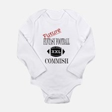 Funny Football kid Long Sleeve Infant Bodysuit