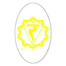 Solar Plexus Chakra Oval Decal