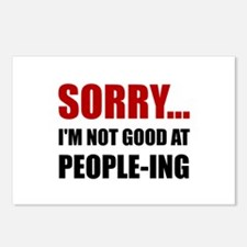 Not Good At People ing Postcards (Package of 8)