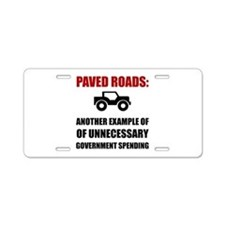 Paved Roads Aluminum License Plate