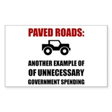 Paved Roads Decal