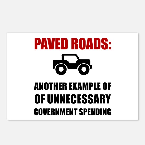 Paved Roads Postcards (Package of 8)