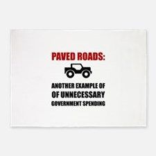 Paved Roads 5'x7'Area Rug
