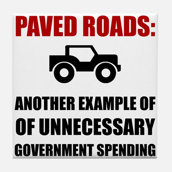 Paved Roads Tile Coaster