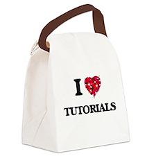 I love Tutorials Canvas Lunch Bag