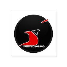 "Cute Trinidadian map Square Sticker 3"" x 3"""