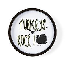 Turkeys Rock ! Wall Clock
