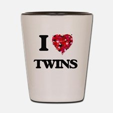 I love Twins Shot Glass