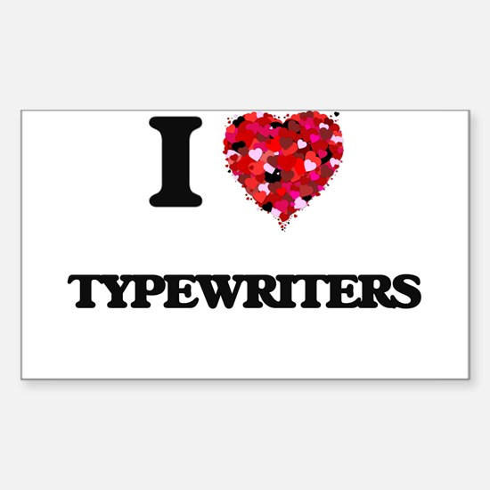 I love Typewriters Decal