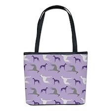 Greyhounds On Purple Bucket Bag