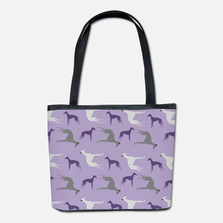 Greyhounds On Purple Bucket Bag
