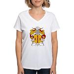 Crato Family Crest  Women's V-Neck T-Shirt