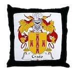 Crato Family Crest  Throw Pillow