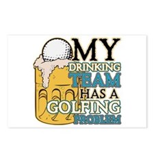 Golf Drinking Team Postcards (Package of 8)