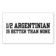 1/2 Argentinian Rectangle Stickers