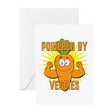 Powered by Veggies Greeting Card