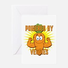 Powered by Veggies Greeting Card