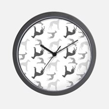 Greyhounds Pattern Wall Clock