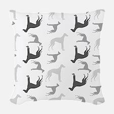 Greyhounds Pattern Woven Throw Pillow