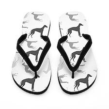 Greyhounds Pattern Flip Flops