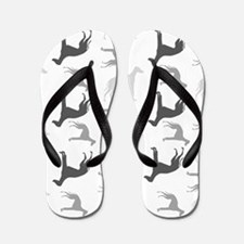 Greyhounds Pattern Flip Flops