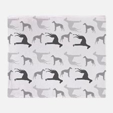 Greyhounds Pattern Throw Blanket