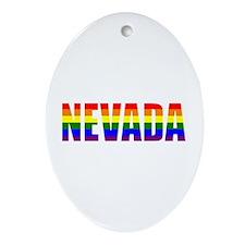 Nevada Pride Oval Ornament