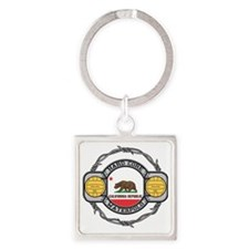 Hard Core California Volleyball Square Keychain