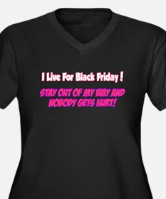 Day after thanksgiving Women's Plus Size V-Neck Dark T-Shirt