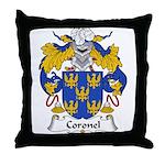 Coronel Family Crest Throw Pillow