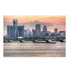 Detroit HDR Skyline II -  Postcards (Package of 8)