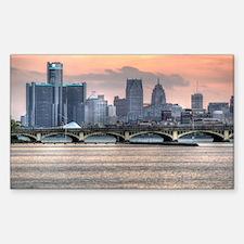 Detroit HDR Skyline II - Rotat Decal