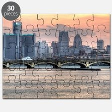 Detroit HDR Skyline II - Rotated Puzzle