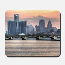 Detroit HDR Skyline II - Rotated Mousepad