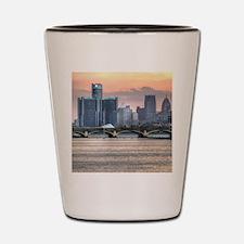 Detroit HDR Skyline II - Rotated Shot Glass