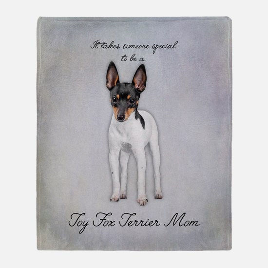 Toy Fox Terrier Mom Throw Blanket