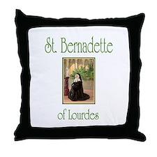 St. Bernadette of Lourdes Throw Pillow