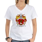 Cordovil Family Crest Women's V-Neck T-Shirt