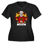 Cordovil Family Crest Women's Plus Size V-Neck Dar