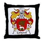Cordovil Family Crest Throw Pillow