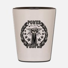 Power to the People 0715 Shot Glass